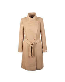 Ted Baker Womens Brown Long Wool Wrap Coat