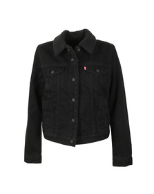 Levi's Womens Black Ex Boyfriend Sherpa Jacket