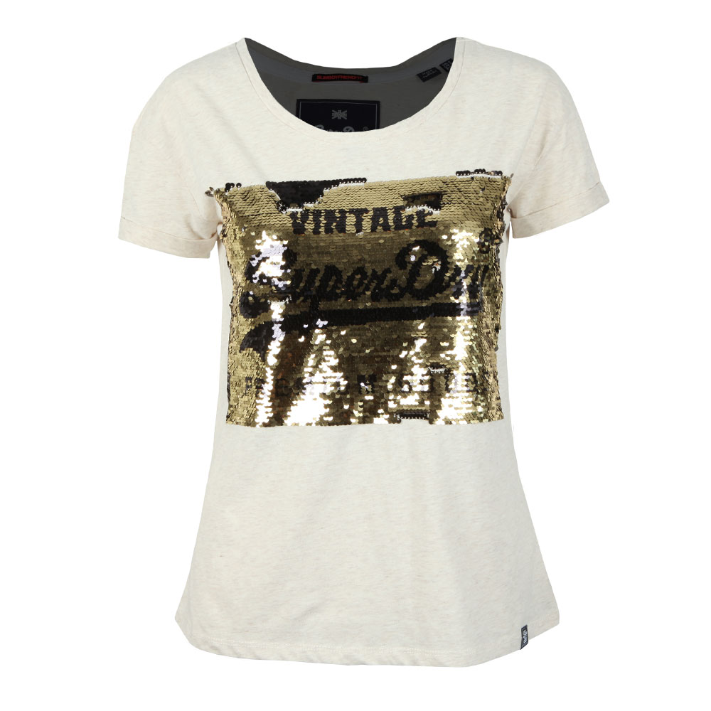 Premium Sequin Slim BF T Shirt main image