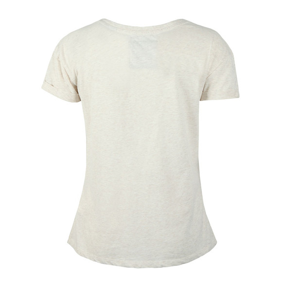 Superdry Womens Off-White Premium Sequin Slim BF T Shirt main image