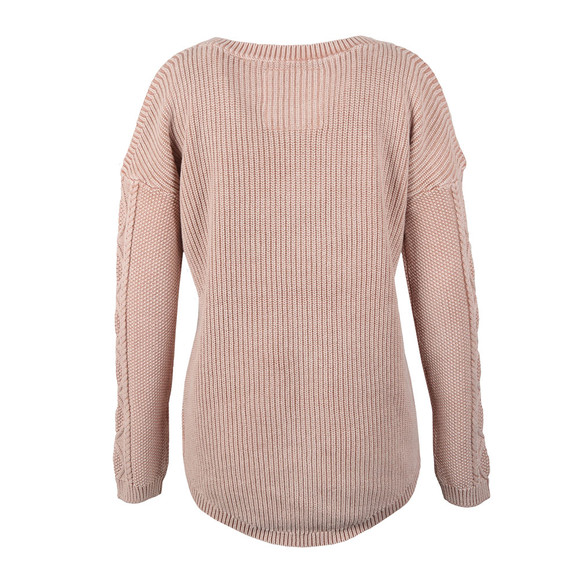 Superdry Womens Pink Acid Wash Cold Shoulder Jumper main image