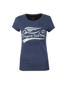 Superdry Womens Blue High Flyers Entry T Shirt