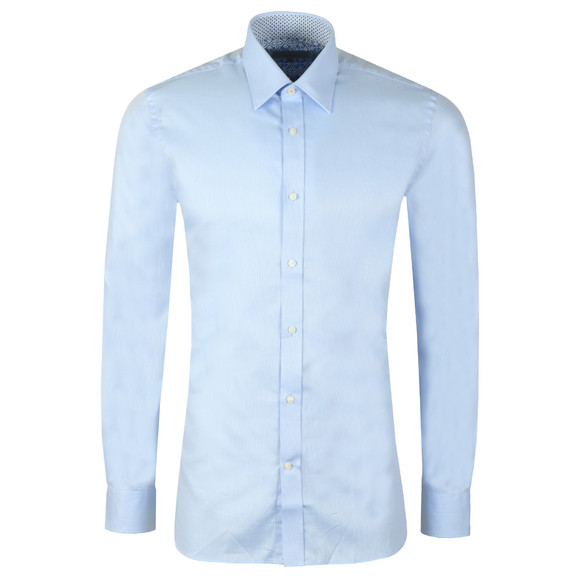Ted Baker Mens Blue Happs Diamond Dobby Endurance Shirt main image