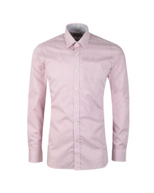 Ted Baker Mens Pink Mixx Diamond Geo Endurance Shirt