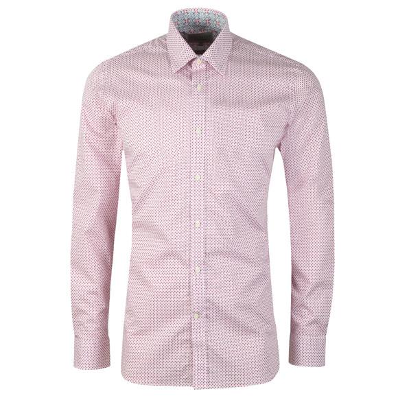 Ted Baker Mens Pink Mixx Diamond Geo Endurance Shirt main image