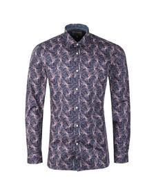 Ted Baker Mens Pink Farms Lily Print Endurance Shirt