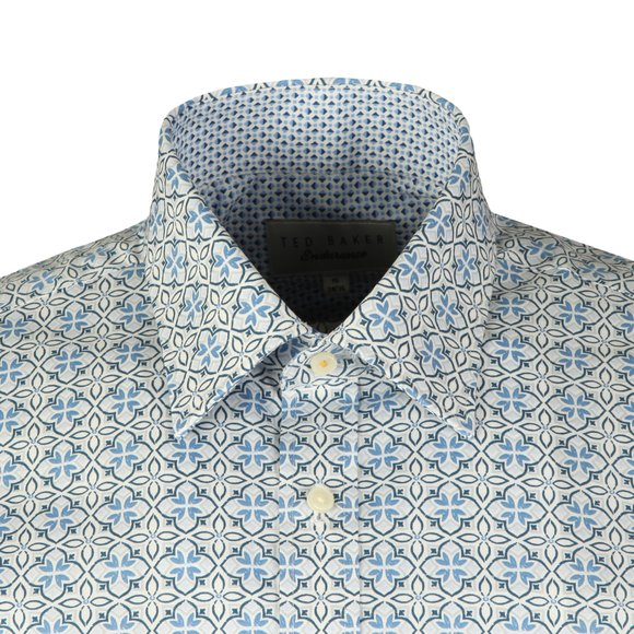 Ted Baker Mens Blue  Lolop Multi Tile Endurance Shirt
