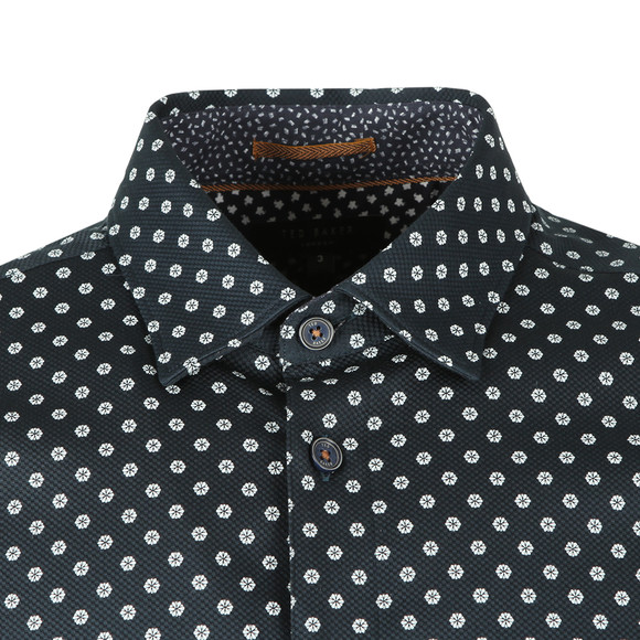 Ted Baker Mens Blue Hillgat LS Geo Flower Shirt main image