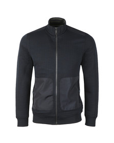 Ted Baker Mens Blue Narn Quilted Funnel Neck Sweat