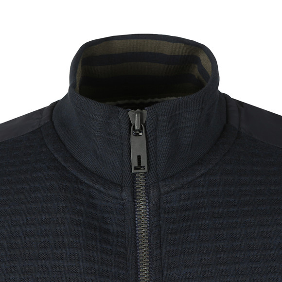 Ted Baker Mens Blue Narn Quilted Funnel Neck Sweat main image