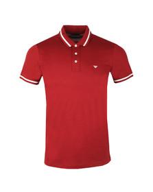 Emporio Armani Mens Red Tipped Polo Shirt