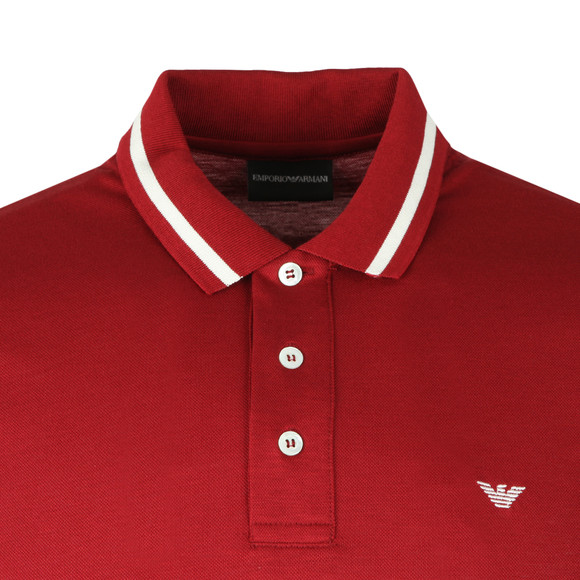 Emporio Armani Mens Red Tipped Polo Shirt main image