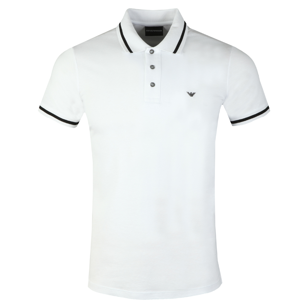 d19e9d05 Mens White Tipped Polo Shirt