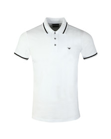 Emporio Armani Mens White Tipped Polo Shirt
