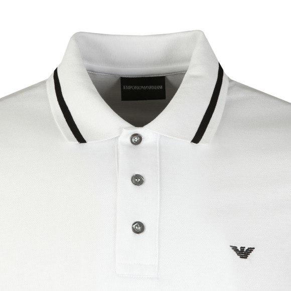 Emporio Armani Mens White Tipped Polo Shirt main image