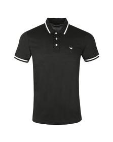 Emporio Armani Mens Black Tipped Polo Shirt