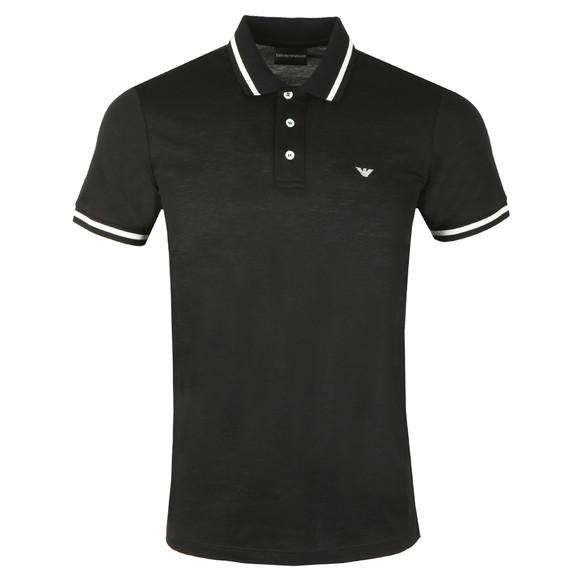Emporio Armani Mens Black Tipped Polo Shirt main image