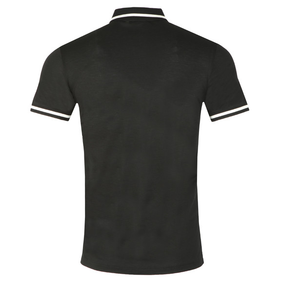 Emporio Armani Mens Black Tipped Polo Shirt main image