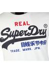 Superdry Mens White Vintage Logo Tri Tee