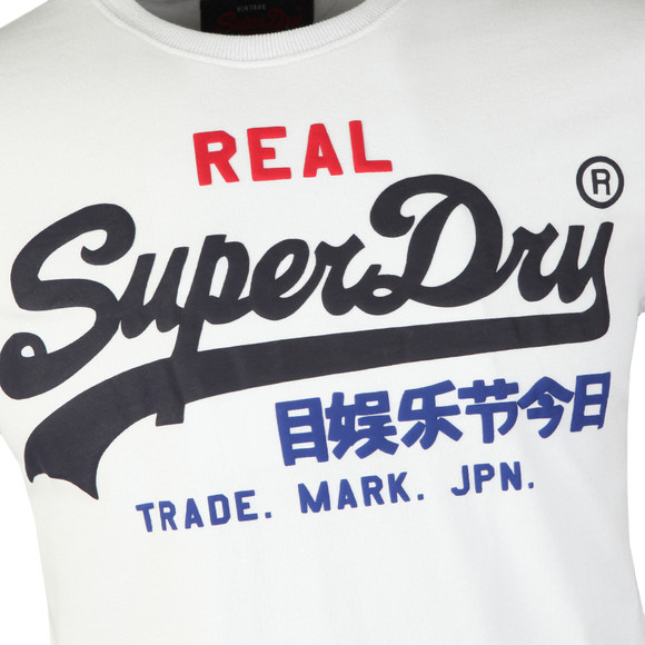 Superdry Mens White Vintage Logo Tri Tee main image