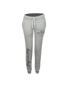 Superdry Womens Grey American Girl Applique Slim Jogger
