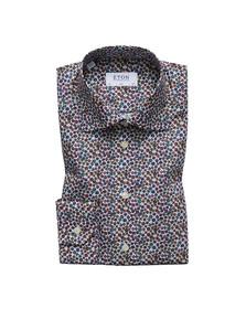 Eton Mens Multicoloured Micro Floral Print Slim Shirt
