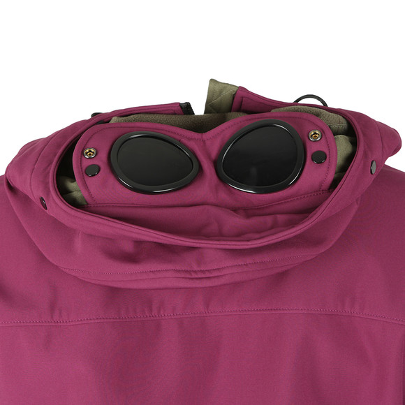 C.P. Company Mens Purple Soft Shell  Goggle Jacket main image