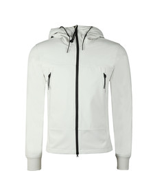 C.P. Company Mens Off-White Soft Shell  Goggle Jacket