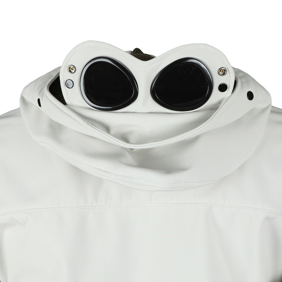 C.P. Company Mens Off-White Soft Shell  Goggle Jacket main image