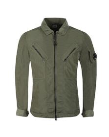 C.P. Company Mens Green Nylon Overshirt