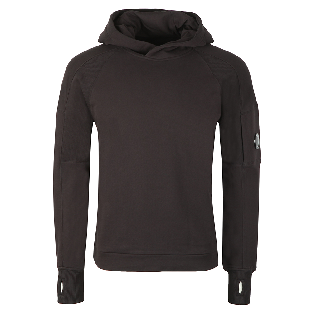 Diagonal Fleece Hooded Sweat main image