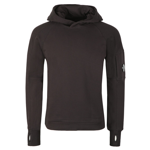 C.P. Company Mens Black Diagonal Fleece Hooded Sweat main image