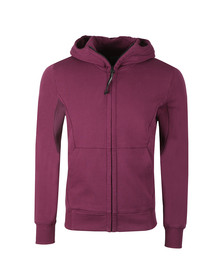 C.P. Company Mens Purple Full Zip Goggle Hoody