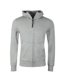 C.P. Company Mens Grey Full Zip Goggle Hoody