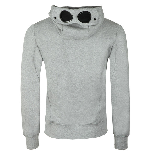 C.P. Company Mens Grey Full Zip Goggle Hoody main image