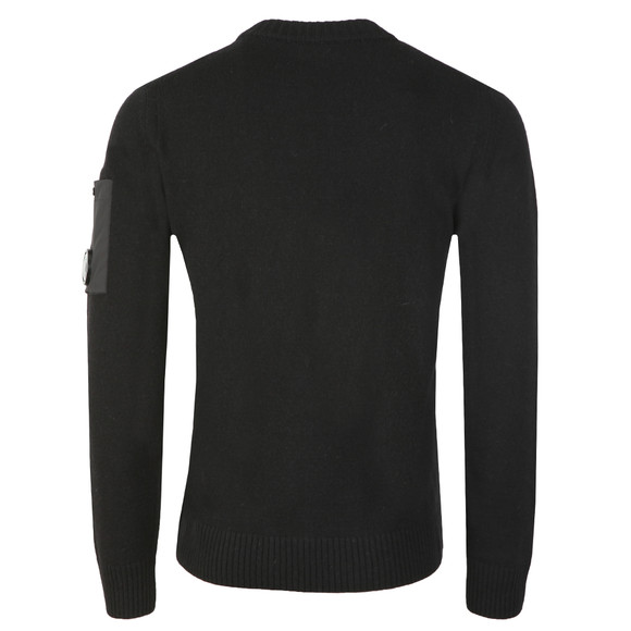 C.P. Company Mens Black Lambswool Mixed Crew Neck Knit main image