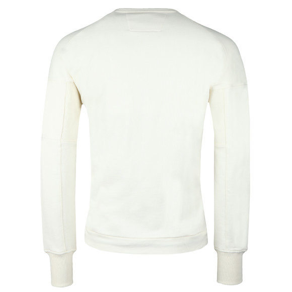 C.P. Company Mens Off-white Diagonal Fleece Crew Neck Sweatshirt main image
