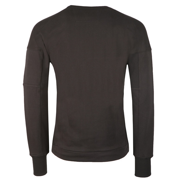 C.P. Company Mens Black Diagonal Fleece Crew Neck Sweatshirt main image