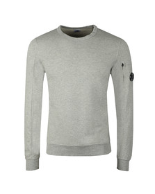 C.P. Company Mens Grey Viewfinder Sleeve Crew Sweat