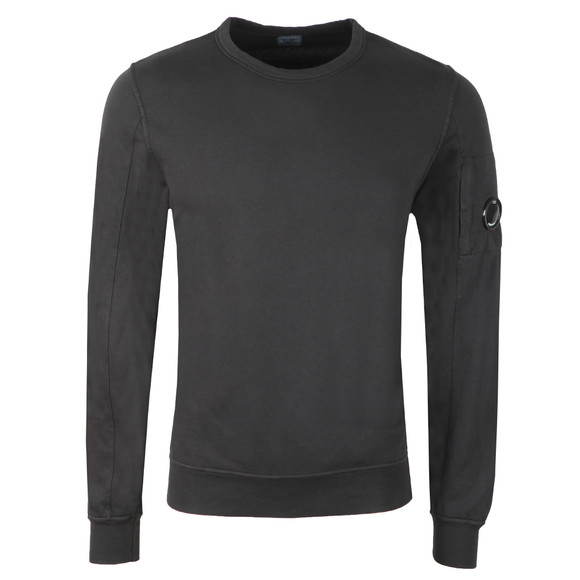 C.P. Company Mens Black Viewfinder Sleeve Crew Sweat main image