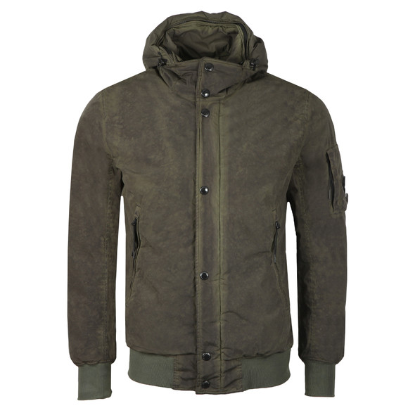 C.P. Company Mens Green Nycra Re-colour Jacket main image
