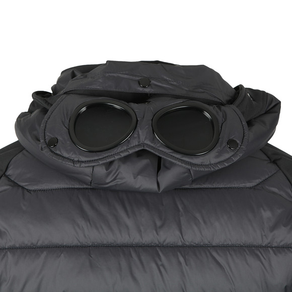 C.P. Company Mens Black Soft Shell Padded Goggle Jacket main image