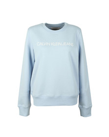 Calvin Klein Jeans Womens Blue Institutional Regular Sweat