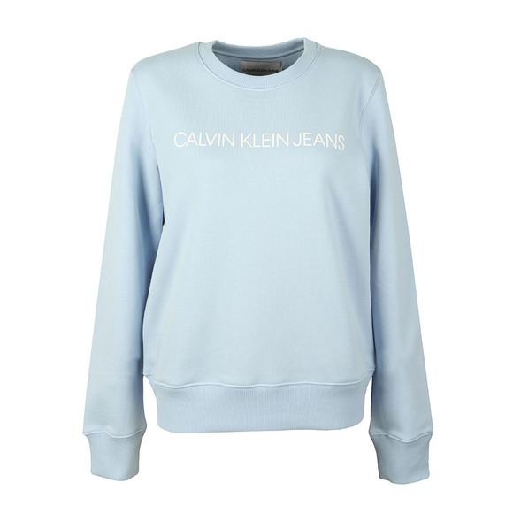 Calvin Klein Jeans Womens Blue Institutional Regular Sweat main image