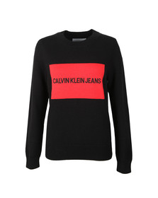 Calvin Klein Jeans Womens Black Institutional Box Jumper