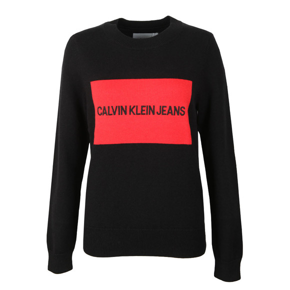 Calvin Klein Jeans Womens Black Institutional Box Jumper main image