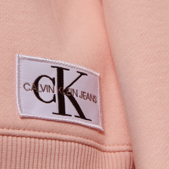 Calvin Klein Jeans Womens Pink Monogram Badge Relaxed Sweat main image