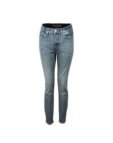 Calvin Klein Jeans Womens Blue Skinny High Rise Jean