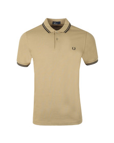 Fred Perry Mens Beige Twin Tipped Polo Shirt