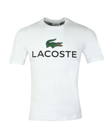 Lacoste Mens White S/S TH0603 Tee